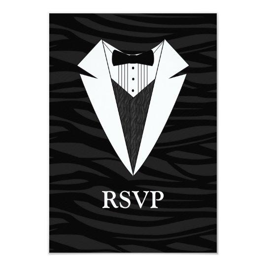 Black/White Tuxedo Card