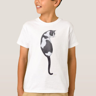 Black & White Tuxedo Cat Kids T-Shirt
