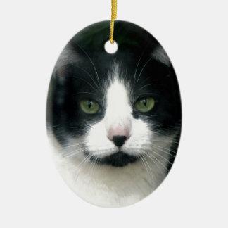 Black & White Tuxedo Cat Ornament