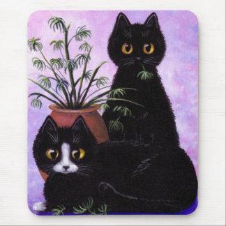 Black White Tuxedo Funny Cat Creationarts Mouse Pad