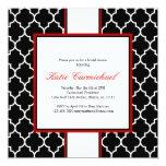 Black & White Tuxedo Invitation, Red