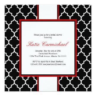 Black & White Tuxedo Invitation, Red 5.25x5.25 Square Paper Invitation Card
