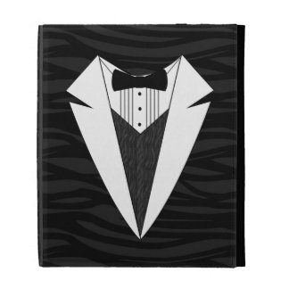 Black/White Tuxedo iPad Folio Covers