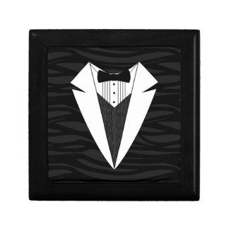Black/White Tuxedo Jewelry Box