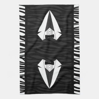 Black/White Tuxedo Kitchen Towel