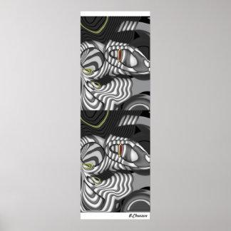 Black White Two Design Poster