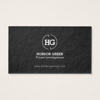 Black white two letter logo business card