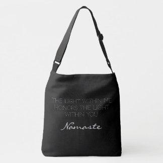 Black White Typography Namaste Inspirational Love Tote Bag
