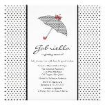 Black & White Umbrella Bridal Shower Invitation