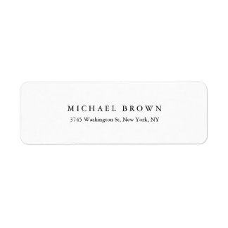 Black White Unique Classical Elegant Plain Label