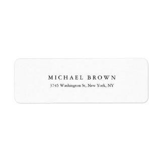 Black White Unique Classical Elegant Plain Label