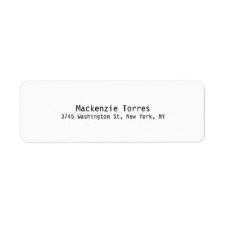 Black & White Unique Modern Plain Label