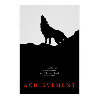 Black White Unique Motivational Poster Print