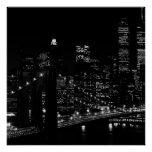 Black & White Unique New York City Poster Print