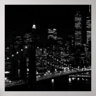 Black & White Unique New York City Poster Print