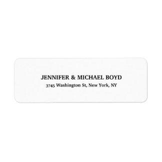 Black & White Unique Retro Style Classical Family Label