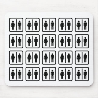 Black White Unisex Gender Pattern Mouse Pad