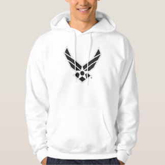 Black & White United States Air Force Logo Hoodie