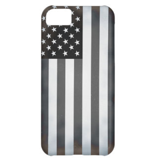 Black & White US American Flag Cover For iPhone 5C