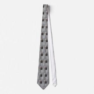Black & White US American Flag Tie