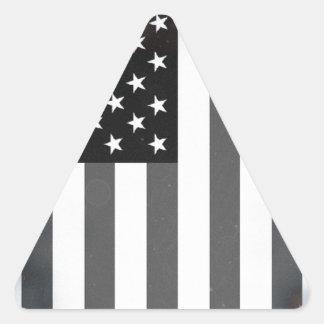 Black & White US American Flag Triangle Sticker