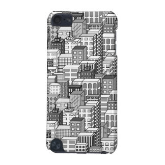 Black & White Vector Cityscape iPod Touch 5G Cover