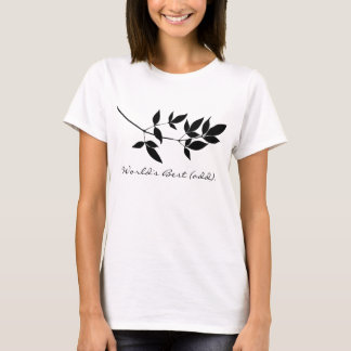Black & white vector leaves branch silhouette T-Shirt