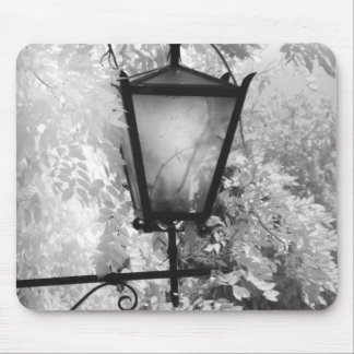 Black & White view of light fixture Mouse Pad