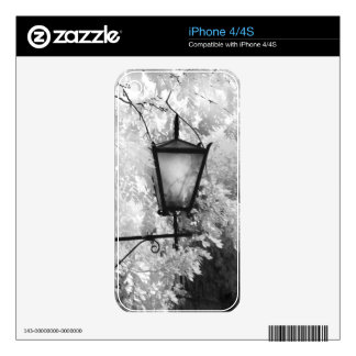 Black & White view of light fixture Skin For iPhone 4S