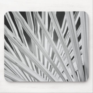 Black & White view of palm tree fronds Mouse Pad
