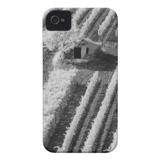 Black & White view of small stone barn Case-Mate iPhone 4 Case