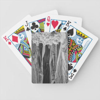 Black & White view of winding road Bicycle Playing Cards
