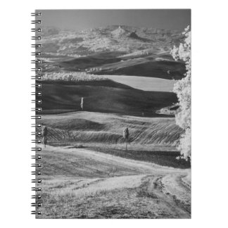 Black & White view of winding road Notebook