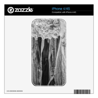 Black & White view of winding road Skins For iPhone 4
