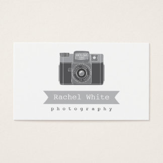 Black & White Vintage Camera Biz Card