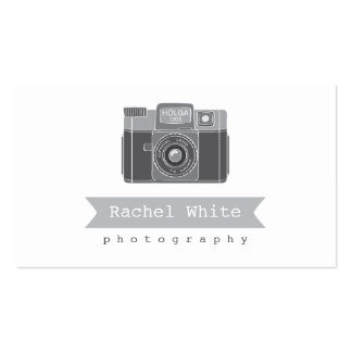 Black & White Vintage Camera Biz Card Double-Sided Standard Business Cards (Pack Of 100)