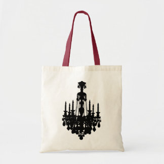 Black & White Vintage Chandelier Graphic Tote Bag