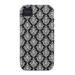 Black White Vintage Damask Pattern 1 iPhone 4/4S Case