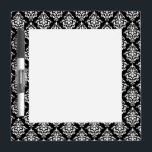 "Black White Vintage Damask Pattern 1 Dry-Erase Board<br><div class=""desc"">Chic,  black and white vintage damask pattern is a perfect gift for her. An elegant,  stylish,  black damask pattern template which you can further customize and personalize with your name or monogram initial to create your own unique design.</div>"