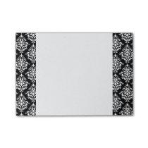 Black White Vintage Damask Pattern 1 Post-it Notes