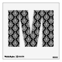 Black White Vintage Damask Pattern 1 Wall Decal