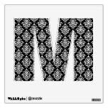 Black White Vintage Damask Pattern 1 Wall Graphics