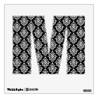 Black White Vintage Damask Pattern 1 Wall Graphics