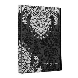 Black & White Vintage Floral Damasks iPad Folio Covers