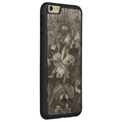 Black&White Vintage Floral Painting Carved® Maple iPhone 6 Plus Bumper Case