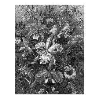 Black&White Vintage Floral Painting Letterhead