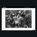 "Black&amp;White Vintage Floral Painting Skin For Laptop<br><div class=""desc"">15 Inch Laptop Skin Template</div>"