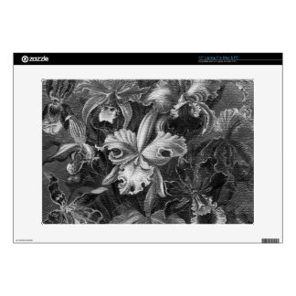 Black&White Vintage Floral Painting Skin For Laptop