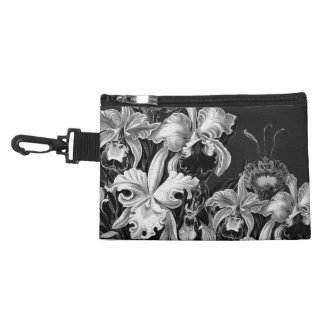 Black&White Vintage Flowers Accessory Bags