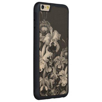 Black&White Vintage Flowers Carved® Maple iPhone 6 Plus Bumper Case